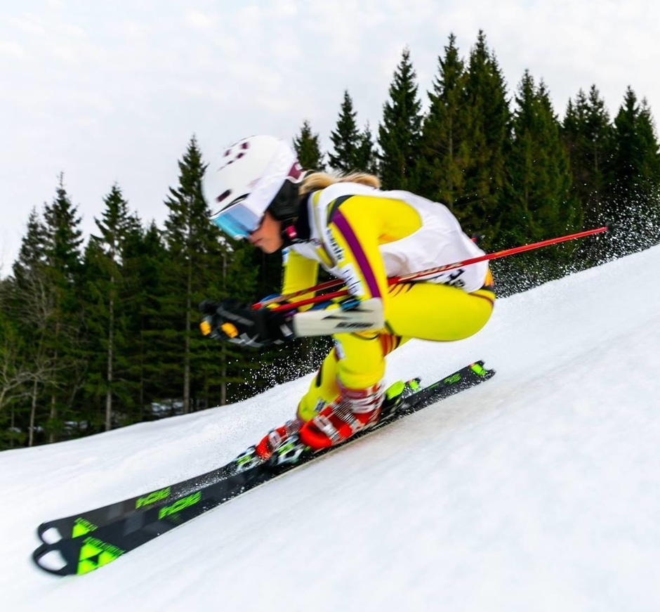 Cecilie Brusletto i ski-yachting